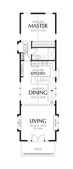 narrow homes floor plans upper floor plan of mascord plan 21107 the skycole
