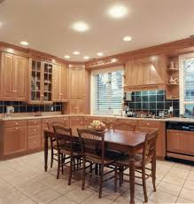 awesome kitchen lighting with ceiling lamps and dining table also
