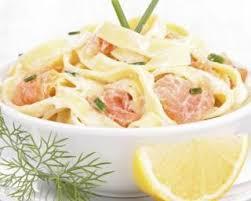 cuisiner konjac recette de tagliatelles de konjac minceur au saumon et citron