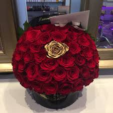Roses In A Box 50 Red Roses In A Black Box With 1 Gold Rose Perfection Yelp