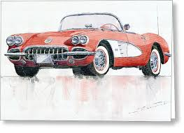 classic car greeting cards america