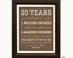20 yr anniversary 20 year anniversary etsy