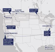 Amtrak National Map by Us National Parks Category Railbookers