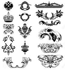 elements of imperial ornament vector illustration royalty free
