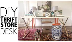 Home Decors Stores by Diy Thrift Store Desk Home Decor Youtube