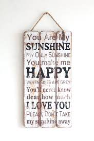 You Are My Sunshine Wall Decor You Are My Sunshine Wooden Sign Vintage Look Home Decor