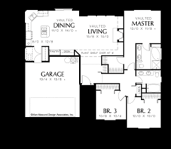 Traditional Floor Plan Mascord House Plan 1135 The Patmore
