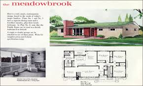 baby nursery mid century ranch home plans in vintage house plans