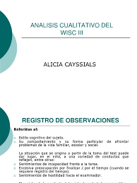 analisis cualitativo wisc iii a cayssials