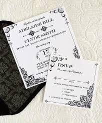 wedding invitations and rsvp vintage print