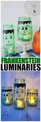 diy halloween luminaries frankenstein mason jar tutorial momdot