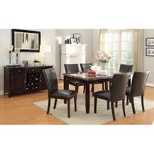 Hayley Dining Room Set Most Efficient Kitchen Layouts With Elegant Mahogany Wood Cabinet