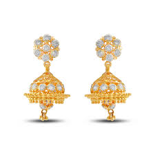 gold jhumka earrings gold drops fancy zumke
