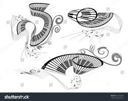 music key notes piano keyboard stock vector 126155282 shutterstock