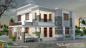 2050 square feet 4 bedroom flat roof house kerala home design