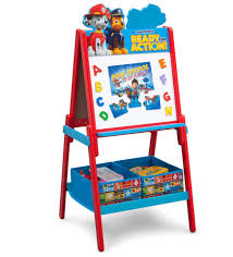Play Table With Storage by Delta Children Paw Patrol Wooden Double Sided Activity Easel With