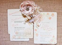 country chic wedding invitations shabby chic wedding invites pergal