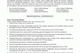 Advertising Sales Resume Sample by Sample Resume Advertising Job