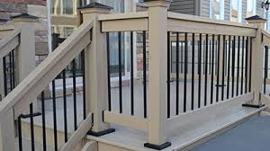 Install Banister Deck Railing Post Anchors Install Posts To Deck Without Notching