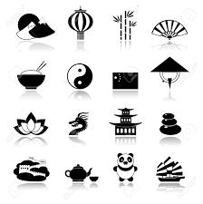 travel symbols images China travel traditional culture symbols black icons set with jpg