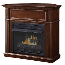 shop pleasant hearth 42 in dual burner vent free tobacco corner