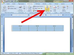 How To Put An Excel Table Into Word How To Add A Caption To A Table In Word 8 Steps With Pictures