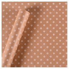 brown gift wrapping paper white polka dots brown gift wrap spritz target