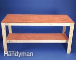 How To Build A Bench In A Shower How To Build A Diy Workbench Super Simple 50 Bench Family Handyman