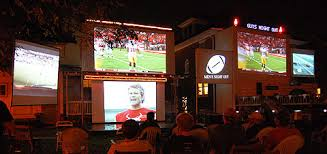 Backyard Movie Night Projector Projectors For Sports Fans Football On The Big Screen