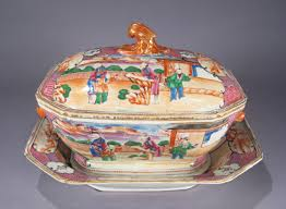 mandarin porcelain export porcelain mandarin pallet soup tureen dubey s
