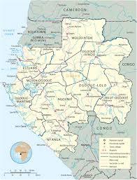 gabon in world map map of gabon travel africa