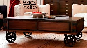 Rustic Coffee Table On Wheels Rustic Coffee Table With Wheels Intended For Tables On Designs 3