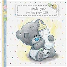 me to you tatty teddy baby gift thank you cards pack of 10