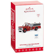 brigade 1979 ford f 700 engine ornament with light