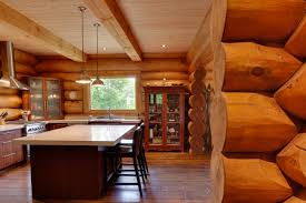 cuisine chalet bois cuisine chalet et maison de bois rond scandinave harkinsca plan