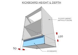 standard cabinet toe kick dimensions standard dimensions for australian kitchens illustrated