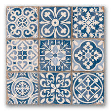Moroccan Tiles Kitchen Backsplash Tapestry Blue Wall Tiles More Bohemian Tapestries Https