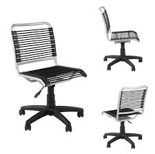 furniture stylish black bungee office chair with arms why
