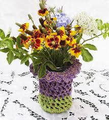 Vase Holders Best 25 Crochet Vase Ideas On Pinterest Crochet Jar Covers
