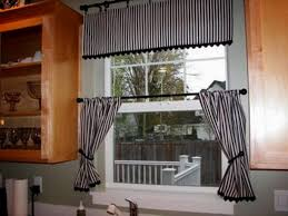 kitchen awesome kitchen curtains valances swags with black white