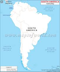 america outline map printable south america blank map outline map of south america