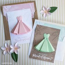 paper dress will you be my bridesmaid cards lia griffith