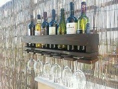 appendi bicchieri bar cantinetta rustica porta bottiglie e porta calici vino pallet da