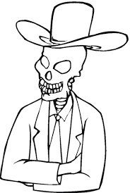 skeleton head coloring pages u2013 fun for halloween