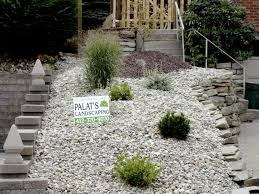 Landscaping Ideas For Sloped Backyard Landscaping Natural Outdoor Design With Rock Landscaping Ideas