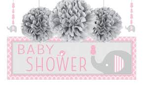 pink and grey elephant baby shower pink baby elephant baby shower party supplies party city