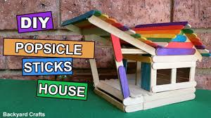 diy popsicle sticks house how to make easy backyard crafts