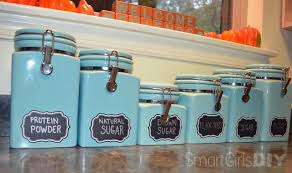 teal kitchen canisters pre made labels sometimes diy isn t the answer