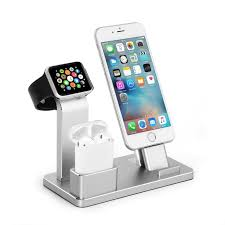 iwatch theme for iphone 6 apple watch stand aluminum airpods charging docks iphone charging