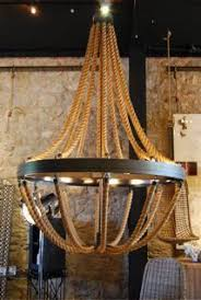 Nautical Rope Chandelier Pottery Barn S Rope Chandelier Would Be For A Cape Cod Or
